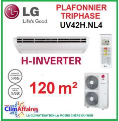 LG Climatisation - Plafonnier H-Inverter Triphasé - UV42H.NL4 + UU43WH.U33 (12.1 kW)