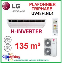 LG Climatisation - Plafonnier H-Inverter Triphasé - UV48H.NL4 + UU49WH.U33 (13.4 kW)