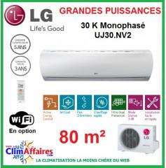 LG Climatisation Inverter Monophasé - Grandes Puissances - R410A - UU30W.U44 + UJ30.NV2 (7.8 kW)