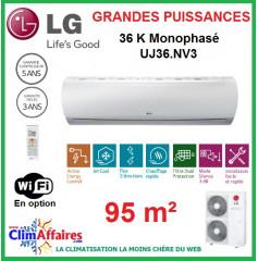 LG Climatisation Inverter Monophasé - Grandes Puissances - R410A - UU36W.UO2 + UJ36.NV3 (9.5 kW)