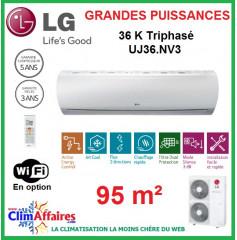LG Climatisation Inverter Triphasé - Grandes Puissances - R410A - UU37W.UO2 + UJ36.NV3 (9.5 kW)