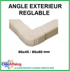Angles extérieurs réglables pour raccords goulottes (60x45 / 80x60 mm)