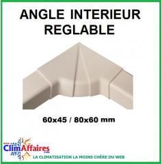 Angles intérieurs réglables pour raccords goulottes (60x45 / 80x60 mm)