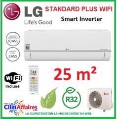 LG Climatisation Inverter - Standard Plus WIFI - R32 - PC09SQ.NSJ + PC09SQ.UA3 (2.5 kW)