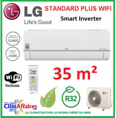 LG Climatisation Inverter - Standard Plus WIFI - R32 - PC12SQ.NSJ + PC12SQ.UA3 (3.5 kW)