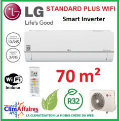 LG Climatisation Inverter - Standard Plus WIFI - R32 - PC24SQ.NSK + PC24SQ.U24 (6.6 kW)
