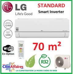 LG Climatisation Inverter - Standard - R32 - S24EQ.NSK + S24EQ.U24 (6.6 kW)