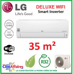 LG Climatisation Inverter - Deluxe WIFI - R32 - DC12RQ.NSJ + DC12RQ.UL2 (3.5 kW)