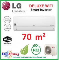 LG Climatisation Inverter - Deluxe WIFI - R32 - DC24RQ.NSK + DC24RQ.U24 (7.0 kW)