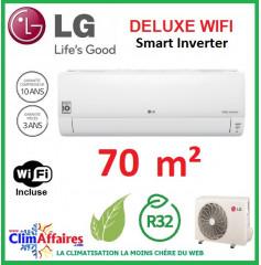 LG Climatisation Inverter - Deluxe WIFI - R32 - DC24RQ.NSK + DC24RQ.U24 (7.0 kW)