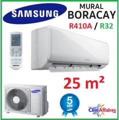 Samsung Mural - BORACAY - R32 ou  R410A - AR09NXFHBWKNEU + AR09NXFHBWKXEU (2.5 kW)