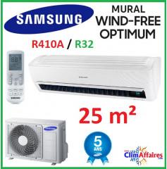 Samsung Mural - WIND FREE OPTIMUM - R32 - AR09NXPXBWKNEU + AR09NXPXBWKXEU (2.5 kW)