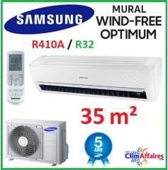 Samsung Mural - WIND FREE OPTIMUM - R32 - AR12NXPXBWKNEU + AR12NXPXBWKXEU (3.5 kW)