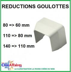 Réductions goulottes (60x45 à 80x60 / 80x60 à 110x75 / 110x75 à 140x90 mm)