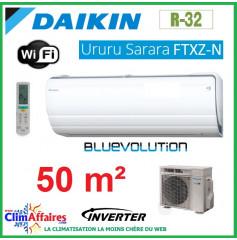 Daikin Climatisation - URURU SARARA BLUEVOLUTION - R32 - FTXZ50N + RXZ50N (5.0 kW)