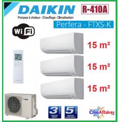 Daikin Tri-Split - PERFERA - R410A - 3MXS40K + 3 x CTXS15K (4.0 kW)