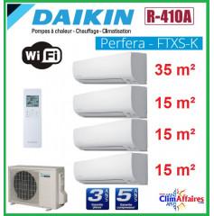 Daikin Quadri-Splits - PERFERA - R410A - 4MXS80E + 3 x CTXS15K + FTXS35K (7.3 kW)