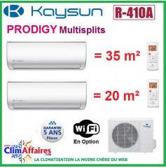Kaysun Bi-Splits - PRODIGY - R410 - KAM2-52 DN7 + KAY-26 DR8 + KAY-35 DR8 (5.28 kW)