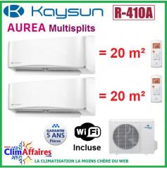 Kaysun Bi-Splits - AUREA II - R410A - KAM2-42 DN8 + 2 x KAY-S 26 DR8 (4.10 kW)