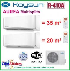 Kaysun Bi-Splits - AUREA II - R410A - KAM2-52 DN7 + KAY-S 26 DR8 + KAY-S 35 DR8 (5.28 kW)
