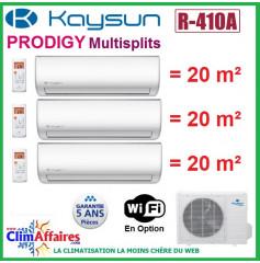 Kaysun Tri-Splits - PRODIGY - R410A - KAM3-62 DN7 + 3 x KAY-26 DR8 (6.15 kW)