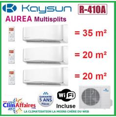 Kaysun Tri-Splits - AUREA II - R410A - KAM3-78 DN7 + 2 x KAY-S26 DR8 + KAY-S35 DR8 (7.91 kW)