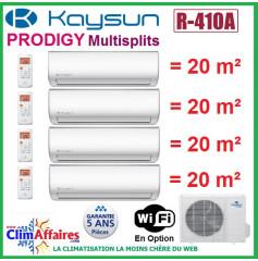 Kaysun Quadri-Splits - PRODIGY - R410A - KAM4-80 DN7 + 4 x KAY-26 DR8 (8.21 kW)