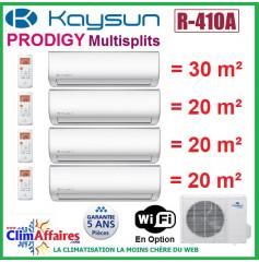 Kaysun Quadri-Splits - PRODIGY - R410A - KAM4-80 DN7 + 3 x KAY-26 DR8 + KAY-35 DR8 (8.21 kW)
