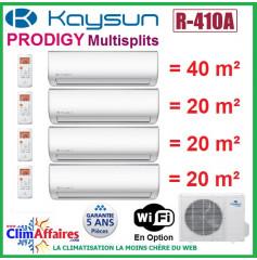 Kaysun Quadri-Splits - PRODIGY - R410A - KAM4-105 DN7 + 3 x KAY-26 DR8 + KAY-52 DR8 (10.55 kW)