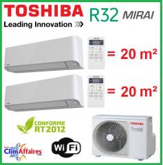 Toshiba Bi-Splits - MIRAI - R32 - RAS-2M14U2AVG-E + 2 x RAS-B07BKVG-E (4.0 kW)