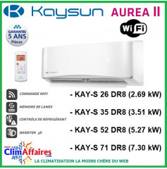 Kaysun Multi-Splits Mural Inverter - Aurea II - R32 / R410A - KAY-S 26 DR8 / KAY-S 35 DR8 / KAY-S 52 DR8 / KAY-S 71 DR8