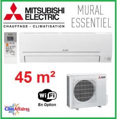 Mitsubishi Mural Inverter - Gamme Essentiel - R32 - MSZ-HR42VF + MUZ-HR42VF (4.2 kW)