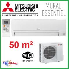 Mitsubishi Mural Inverter - Gamme Essentiel - R32 - MSZ-HR50VF + MUZ-HR50VF (5.0 kW)
