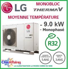 LG Therma V - Pompe à Chaleur Air/Eau - Monobloc - R32 - Monophasé - HM091M.U43 (9.0 kW)