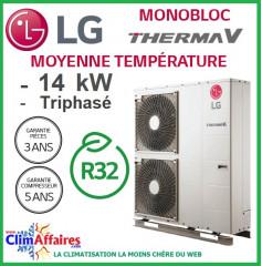 LG Therma V - Pompe à Chaleur Air/Eau - Monobloc - R32 - Triphasé - HM143M.U33 (14.0 kW)