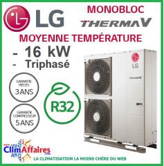 LG Therma V - Pompe à Chaleur Air/Eau - Monobloc - R32 - Triphasé - HM163M.U33 (16.0 kW)