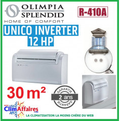 Olympiad Splendid - Climatisation Monobloc Réversible Inverter - R410A - UNICO 12 HP (2.7 kW)