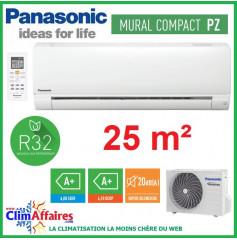 Panasonic Climatisation Mural Inverter - PZ Standard - R32 - CS-PZ25TKE + CU-PZ25TKE (2.5 kW)
