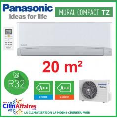 Panasonic Climatisation Mural Inverter - TZ Compact - R32 - CS-TZ20TKEW-1 + CU-TZ20TKE-1 (2.0 kW)
