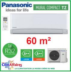 Panasonic Climatisation Mural Inverter - TZ Compact - R32 - CS-TZ60TKEW + CU-TZ60TKE (6.0 kW)