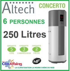 Chauffe Eau Thermodynamique ALTECH - Fiche énergétique - CONCERTO - HP250M3A (246 L)
