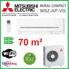Mitsubishi - Fiche énergétique - MSZ-AP71VG+MUZ-AP71VG (7.1 kW)