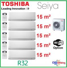 Toshiba Climatisation Penta-Splits - SEIYA - R32 - RAS-5M34U2AVG-E + 5 x RAS-B05J2KVG-E (10.0 kW)