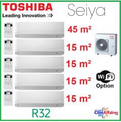 Toshiba Climatisation Penta-Splits - SEIYA - R32 - RAS-5M34U2AVG-E + RAS-B16J2KVG-E  + 4 x RAS-B05J2KVG-E (10.0 kW)