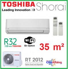 Toshiba Climatiseur Mural Inverter - SHORAI - R32 - RAS-13PAVSG-E + RAS-B13PKVSG-E (3.5 kW)