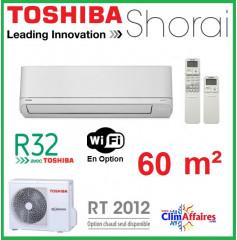Toshiba Climatiseur Mural Inverter - SHORAI - R32 - RAS-22PAVSG-E + RAS-B22PKVSG-E (6.1 kW)