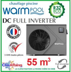 Pompe à chaleur pour piscine WARMPOOL - DC FULL INVERTER - DC55 - 7.93 kW (55 m³)