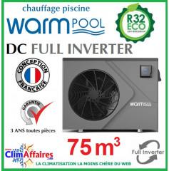 Pompe à chaleur pour piscine WARMPOOL - DC FULL INVERTER - DC75 - 10.90 kW (75 m³)