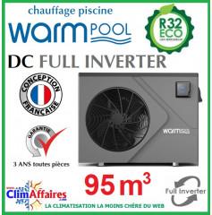 Pompe à chaleur pour piscine WARMPOOL - DC FULL INVERTER - DC95 - 15.81 kW (95 m³)