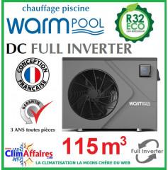 Pompe à chaleur pour piscine WARMPOOL - DC FULL INVERTER - DC115 - 17.05 kW (115 m³)